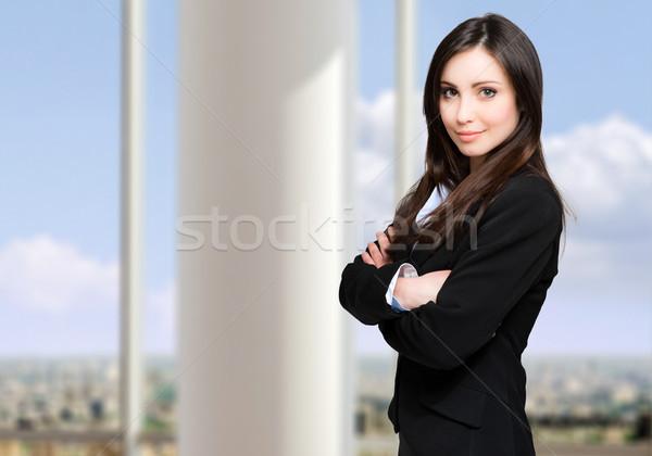 Empresária retrato mulher sorrir cara moda Foto stock © Minervastock