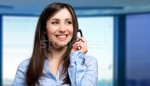 Portrait of a beautiful customer representative at work Stock photo © Minervastock