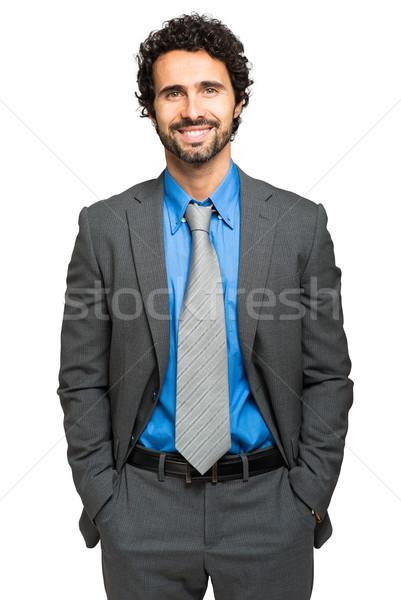 Yakışıklı erkek müdür portre adam işadamı Stok fotoğraf © Minervastock