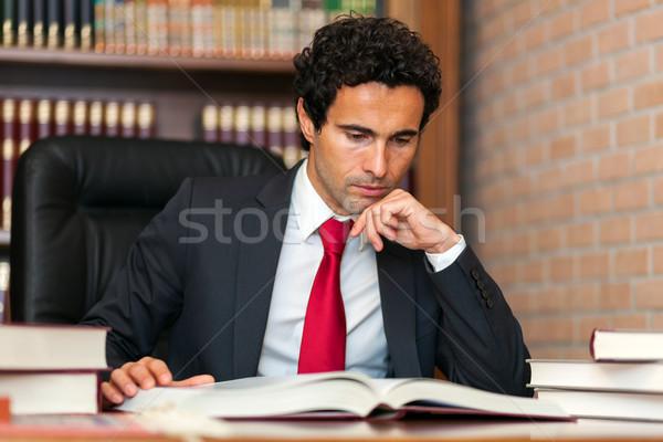 адвокат студию бизнеса лице человека бизнесмен Сток-фото © Minervastock