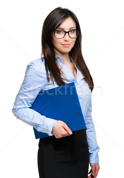 美しい 女性実業家 肖像 孤立した 白 ビジネス ストックフォト © Minervastock