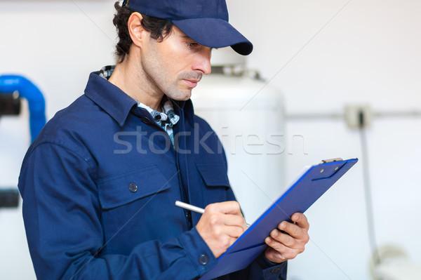 Plumber at work Stock photo © Minervastock