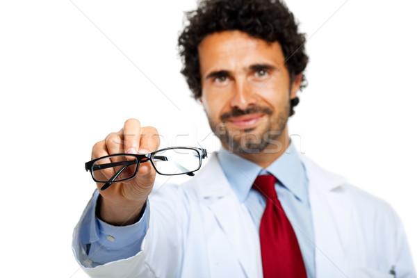 Zdjęcia stock: Młodych · lekarza · pary · okulary · zdrowia · okulary