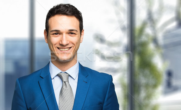 Stock photo: Portrait of a handsome businessman
