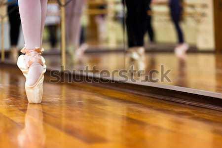 Ballerinas in pointe position Stock photo © Minervastock