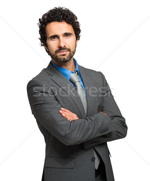 Yakışıklı müdür yalıtılmış beyaz adam işadamı Stok fotoğraf © Minervastock