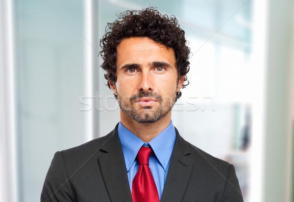Yakışıklı işadamı portre ofis adam takım elbise Stok fotoğraf © Minervastock