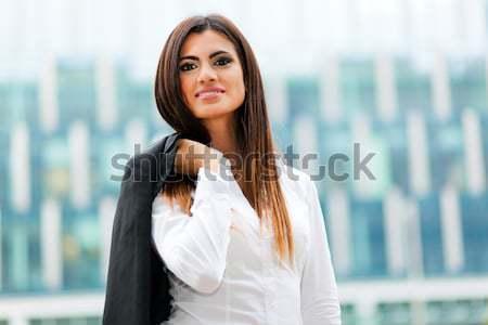 Güzel işkadını portre iş kadın mutlu Stok fotoğraf © Minervastock
