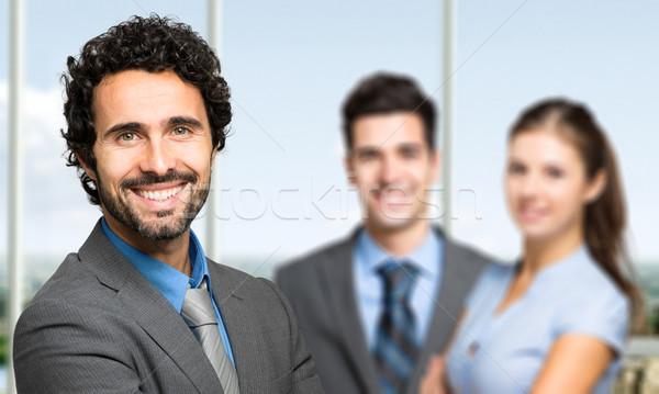 İş ortaklarımız modern ofis kadın çalışmak grup Stok fotoğraf © Minervastock