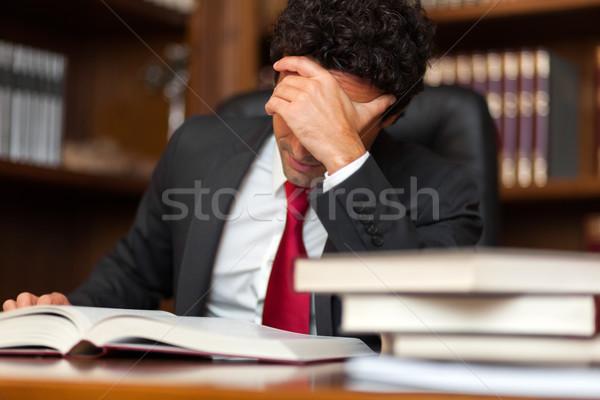 Stressed lawyer in his studio Stock photo © Minervastock