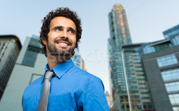 Man in a business district Stock photo © Minervastock