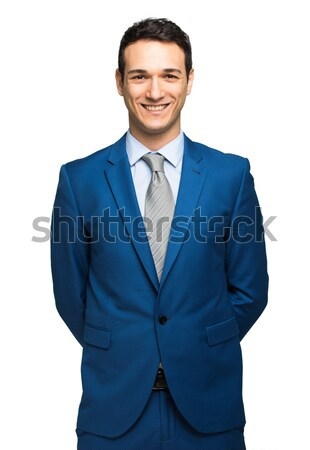 Sorridente jovem gerente retrato isolado branco Foto stock © Minervastock