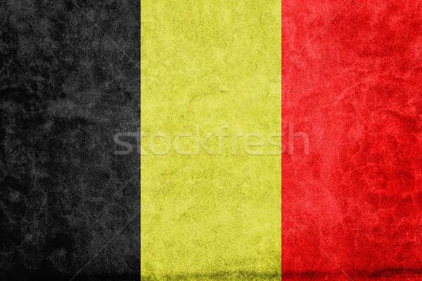 Belçika bayrak kâğıt soyut çerçeve Stok fotoğraf © Minervastock