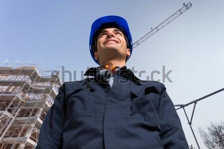 Stockfoto: Plaats · manager · portret · geïsoleerd · witte