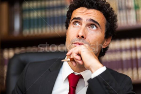 портрет задумчивый бизнесмен лице исполнительного менеджера Сток-фото © Minervastock