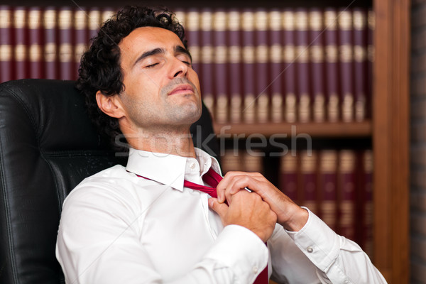 Manager relaxing himself in his office Stock photo © Minervastock