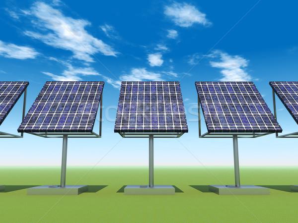 Energia solar planta computador gerado ilustração 3d sol Foto stock © MIRO3D