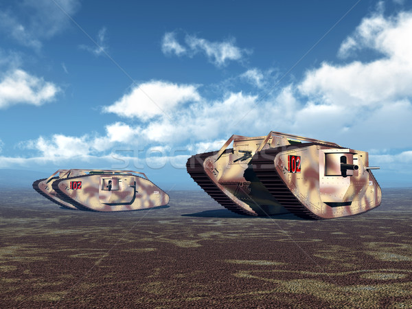 British Heavy Tanks Stock photo © MIRO3D