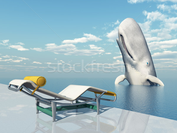 Deck Chair and Sperm Whale Stock photo © MIRO3D