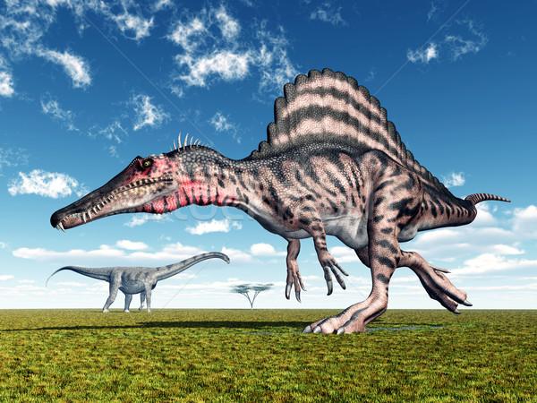 コンピュータ 生成された 3次元の図 恐竜 自然 恐竜 ストックフォト © MIRO3D