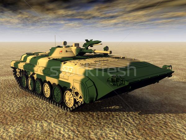 Szovjet fény tank számítógép generált 3d illusztráció Stock fotó © MIRO3D