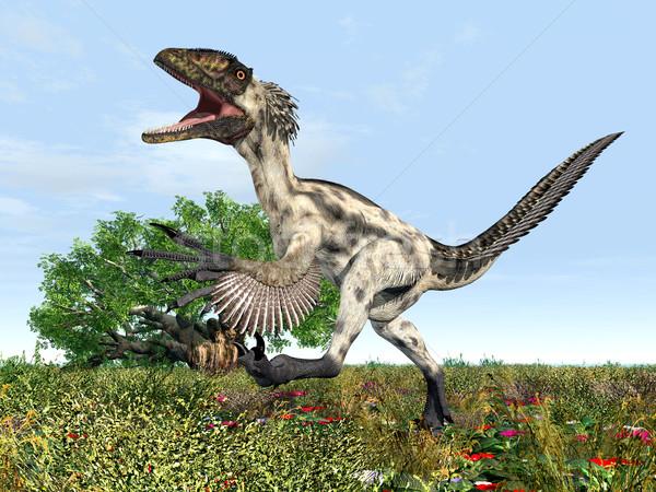 Dinosaur Deinonychus Stock photo © MIRO3D