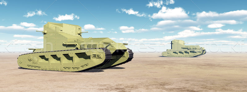 British Medium Tanks of World War I Stock photo © MIRO3D
