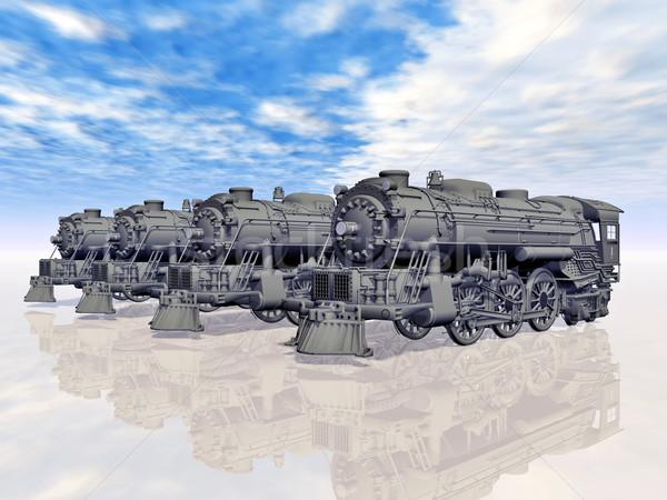 Pary komputera wygenerowany 3d ilustracji starych Zdjęcia stock © MIRO3D