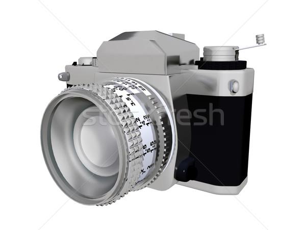 カメラ コンピュータ 生成された 3次元の図 孤立した 白 ストックフォト © MIRO3D