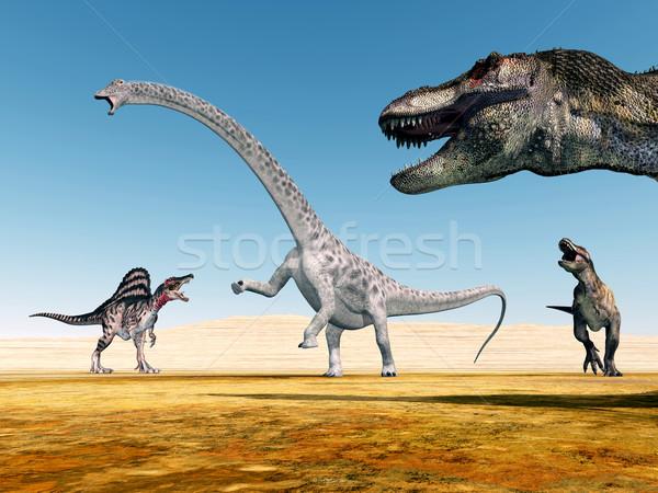 The Dinosaurs Stock photo © MIRO3D