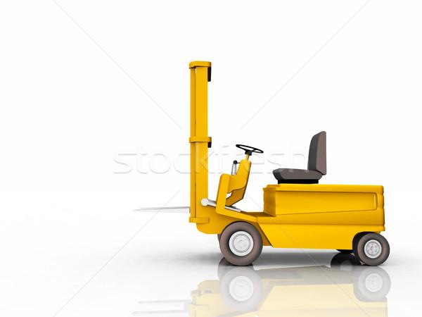 Targonca teherautó számítógép generált 3d illusztráció fehér Stock fotó © MIRO3D