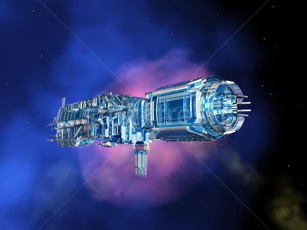 宇宙船 世界 コンピュータ 生成された 3次元の図 ストックフォト © MIRO3D