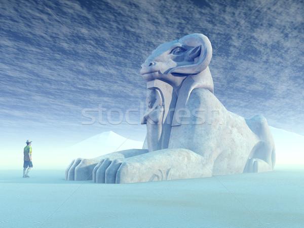 Egyptian Sphinx Stock photo © MIRO3D