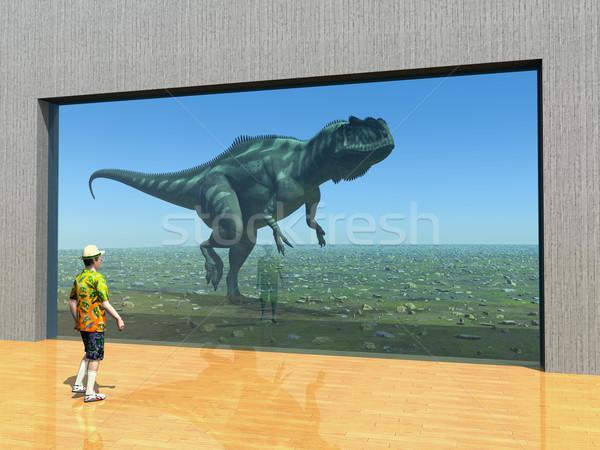 Látogatás állatkert számítógép generált 3d illusztráció látogató Stock fotó © MIRO3D