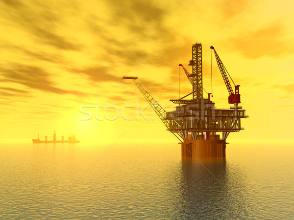 Oil Platform Stock photo © MIRO3D
