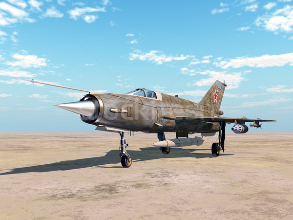 Soviet jet fighter aircraft Stock photo © MIRO3D