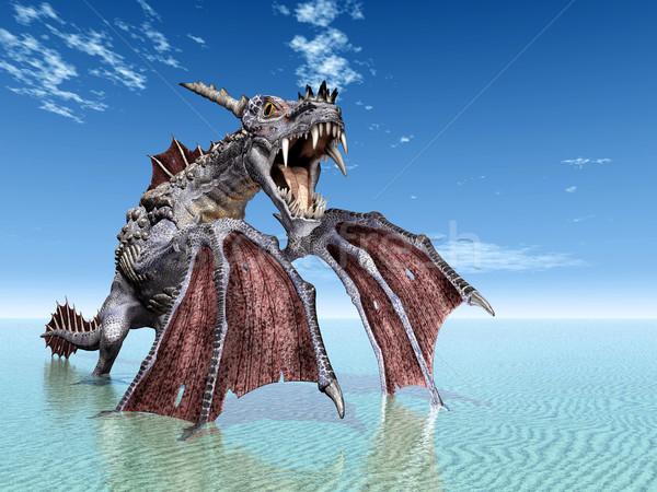 水 龍 コンピュータ 生成された 3次元の図 ビーチ ストックフォト © MIRO3D
