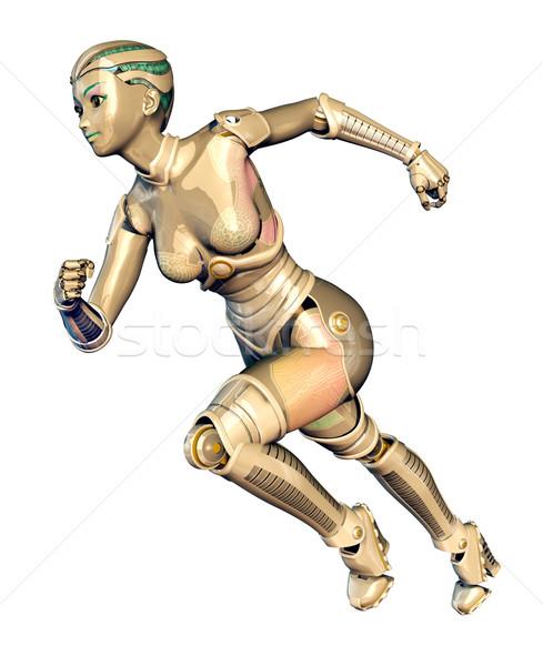 女性 ロボット コンピュータ 生成された 3次元の図 孤立した ストックフォト © MIRO3D