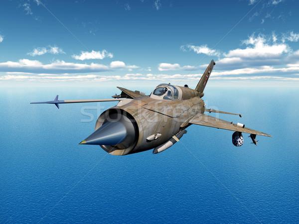 ジェット 戦闘機 航空機 コンピュータ 生成された ストックフォト © MIRO3D