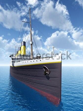 óceán számítógép generált 3d illusztráció hajóút Stock fotó © MIRO3D