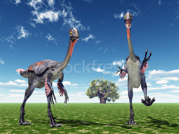Dinozor bilgisayar oluşturulan 3d illustration bilim hayvan Stok fotoğraf © MIRO3D