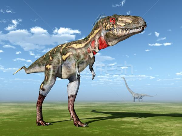 コンピュータ 生成された 3次元の図 恐竜 自然 動物 ストックフォト © MIRO3D