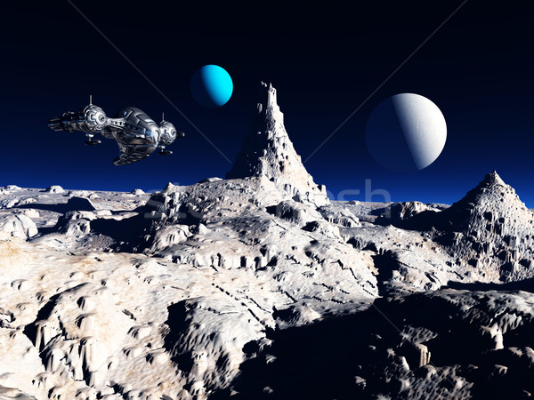 Spaceship in a Distant World Stock photo © MIRO3D