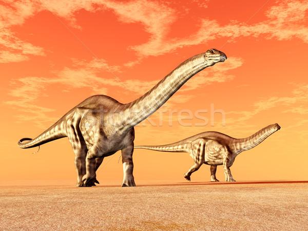 Dinoszaurusz számítógép generált 3d illusztráció felhők természet Stock fotó © MIRO3D