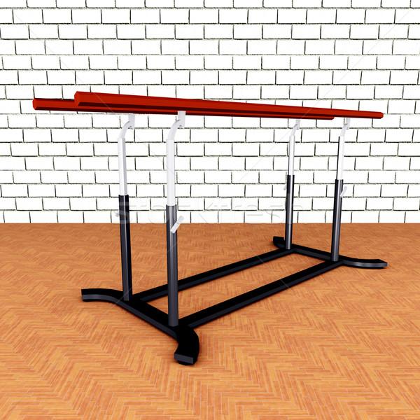 Parallel bars computer gegenereerde 3d illustration sport Stockfoto © MIRO3D
