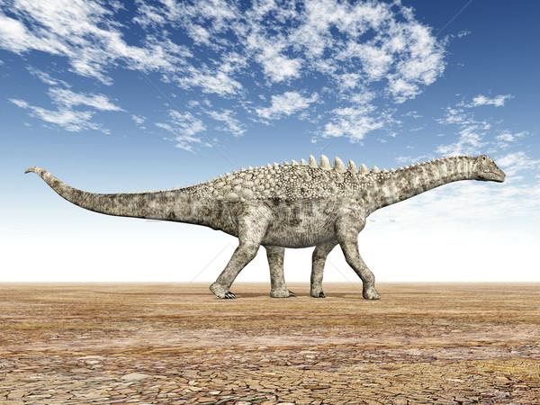 динозавр компьютер генерируется 3d иллюстрации природы пустыне Сток-фото © MIRO3D
