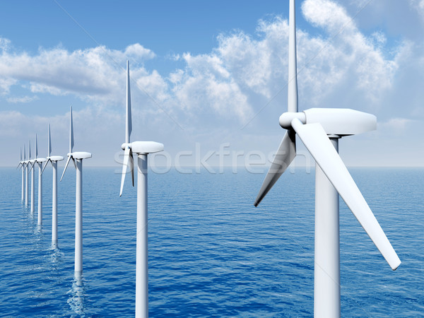Offshore Wind Farm Stock photo © MIRO3D