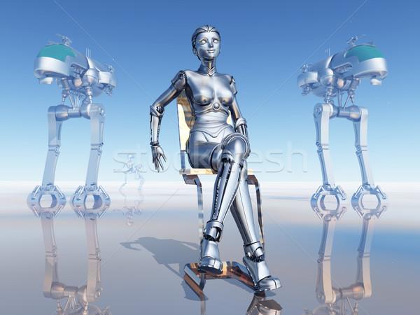 Női robot számítógép generált 3d illusztráció bolygó Stock fotó © MIRO3D
