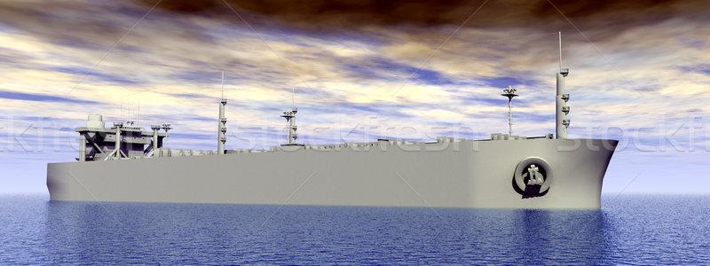 Számítógép generált 3d illusztráció tenger óceán kék ég Stock fotó © MIRO3D