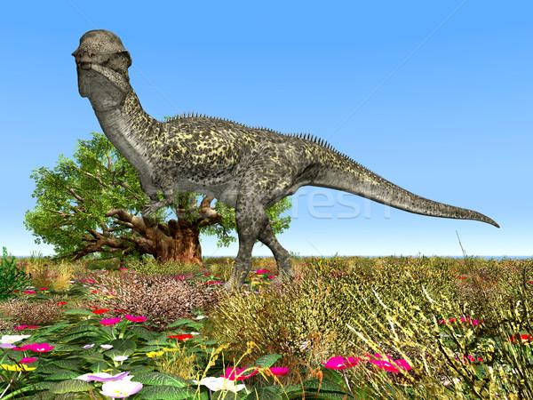 Dinozor bilgisayar oluşturulan 3d illustration doğa bilim Stok fotoğraf © MIRO3D